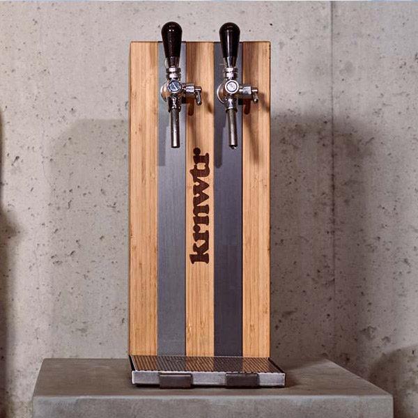 KRNWTR-tappunt Bamboe & Staal | Tafelmodel | Gefilterd, gekoeld & bruisend