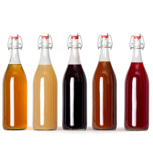 Siropenpakket 6 flessen | Mix van smaken | 1 liter